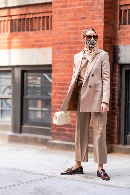 olivia palermo street style beige suit