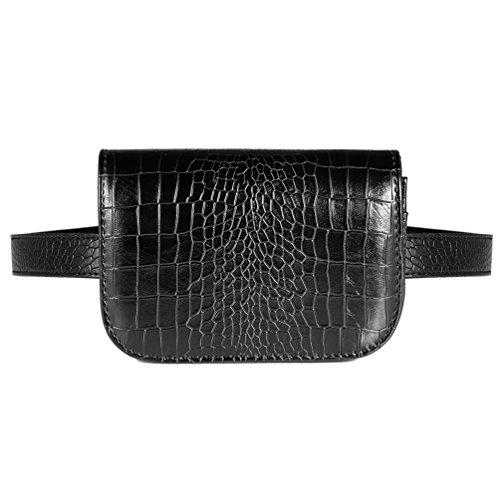 Vbiger Women's Shoulder Bag Fashion Women's Mini Waist Bag Black