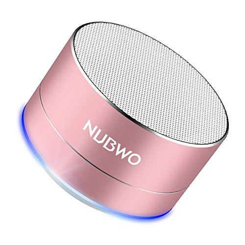 Bluetooth Speaker, NUBWO A2 Mini Portable Outdoor Bluetooth Speaker, Bass Wireless Speaker with Handsfree Calling - Pink Gold
