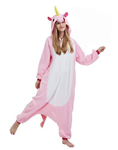 DELEY Unisex Adult Unicorn Sleepwear Hooded Anime Carnival Halloween