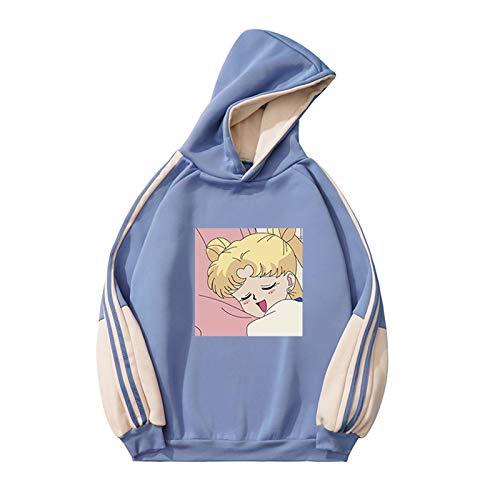 Sailor Moon Printed Hoodie, Long Sleeve Anime Hoodie for Teenage Girls