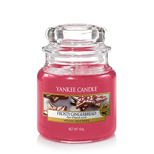 Yankee Candle scented candle in small jar, gingerbread
