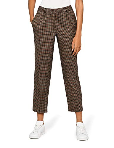 Amazon brand - find. Check Suit Trouser - Women's Trousers, Multicoloured (Brown Check), 42, Label: L