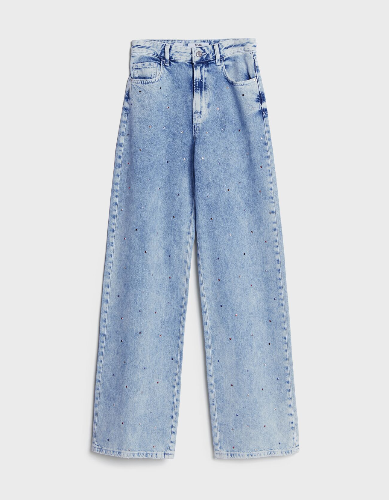 Straight strass jeans.