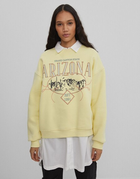 Oversize Sweatshirt With Shirt Under
