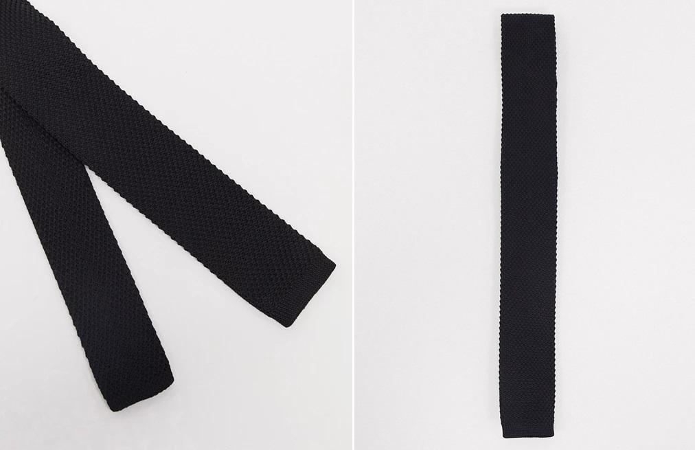 Black knitted tie from Jack&Jones.