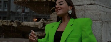 This is Attico's successful lime green (neon) blazer on Instagram