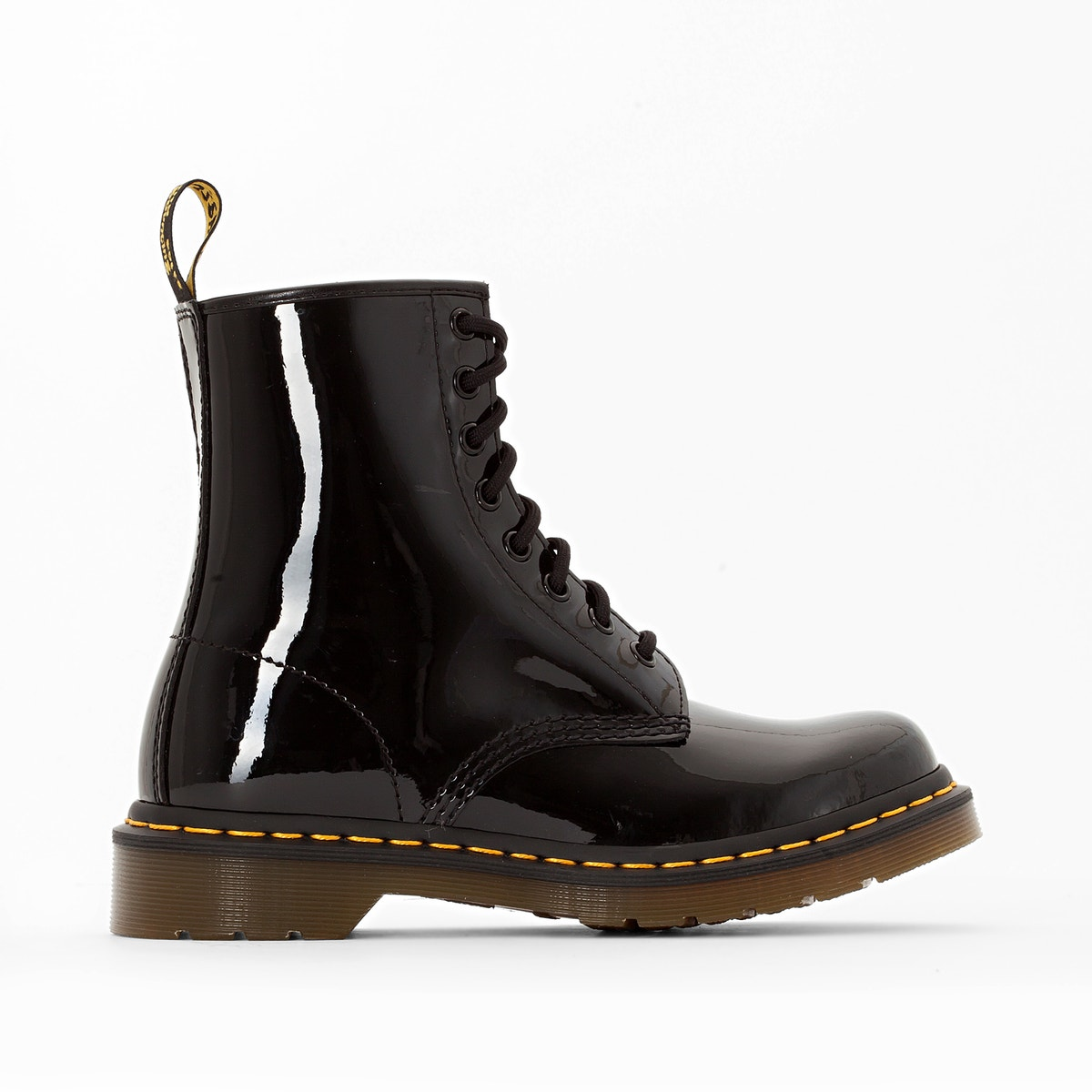 Dr Martens patent leather military boots
