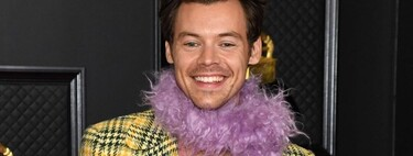 Harry Styles and Bad Bunny rock Gucci and Burberry looks on the red carpet at the 2021 Grammy Awards.