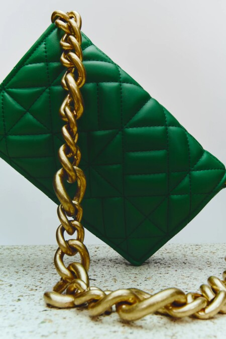 Zara Plaga Handbag Summer 2021 Green 02