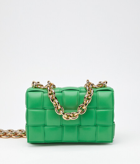 Bottega Veneta Green Chain Cassette Bag