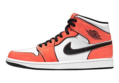 Jordan air 1 mid se arancio lucido unisex - 42.5