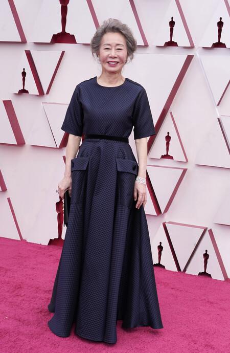 Youn Yuh Jung Christian Dior Oscar 2021