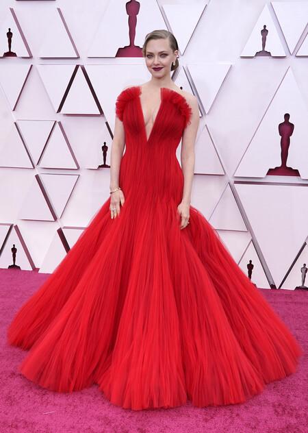 Amanda Seyfried Armani Prive Oscar 2021