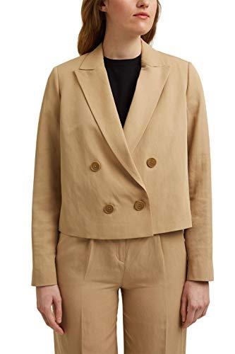 ESPRIT Collection 031EO1G305 Women's Sport Jacket, 270/beige, 38
