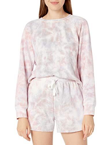 The Drop Caroline Women's Long Sleeve Fleece Lined Sweatshirt, Faded lavender, M