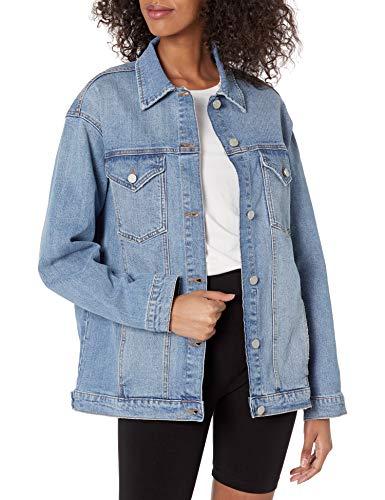 The Drop Andrea Oversize Denim Jacket, Clearwater, S