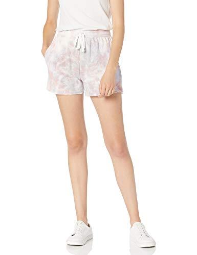 The Drop Michaela Women's Side Slit Fleece Lined Shorts, faded lavender, S