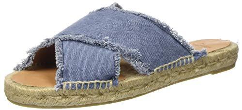 Castañer PALMERA/SS20002, Flat Sandals Women, Light Jeans, 39 EU