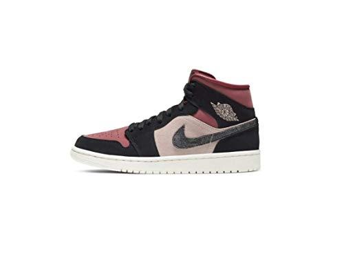 Nike Wmns Air Jordan 1 Mid Women's Basketball Shoe Particle Beige Black Canyon Rust Sail BRT Mango, 38 EU
