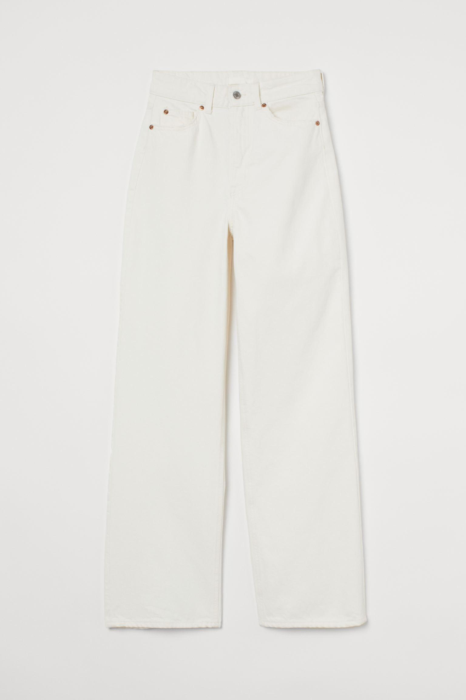 White high rise jeans