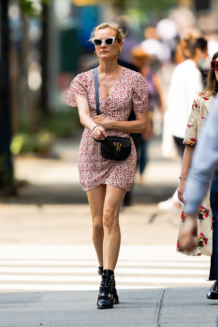 Diane Kruger Dress Booties Street Style Booties Ss 2021 02