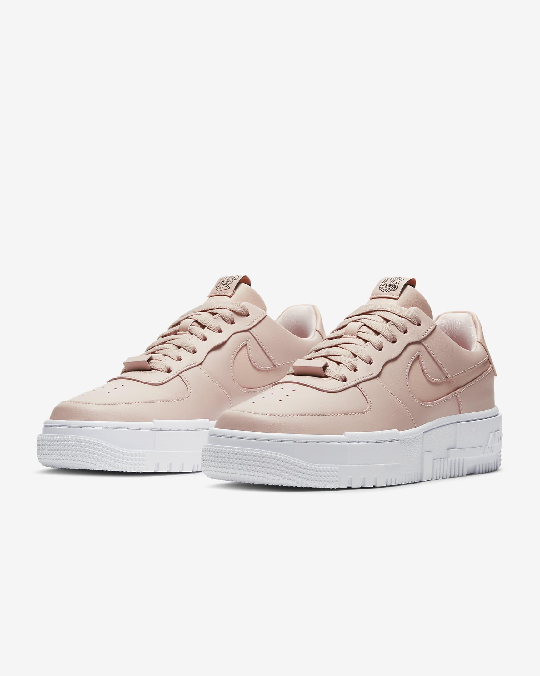 Air Force 1 Pixel sneakers in pastel pink.