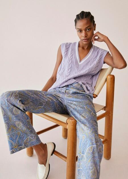 Mango Paisley Trousers