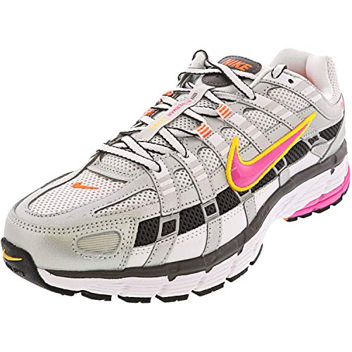 Nike W P-6000 Women's Running Shoe, Multicolor (White/Laser Fuchsia/Mtlc Platinum 100), 43 EU