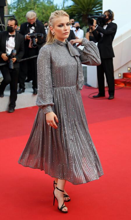 Camille Razat red carpet cannes 2021